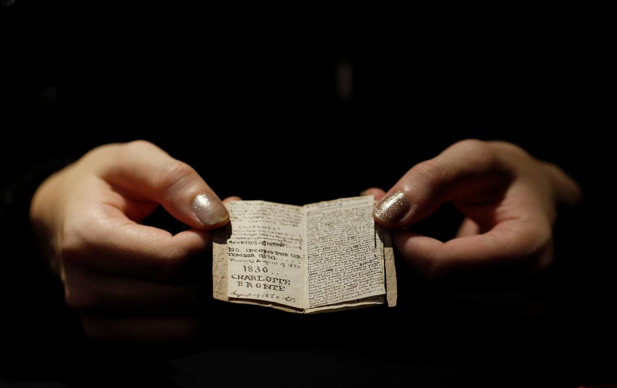 Miniature Bronte manuscript returns to author's childhood home