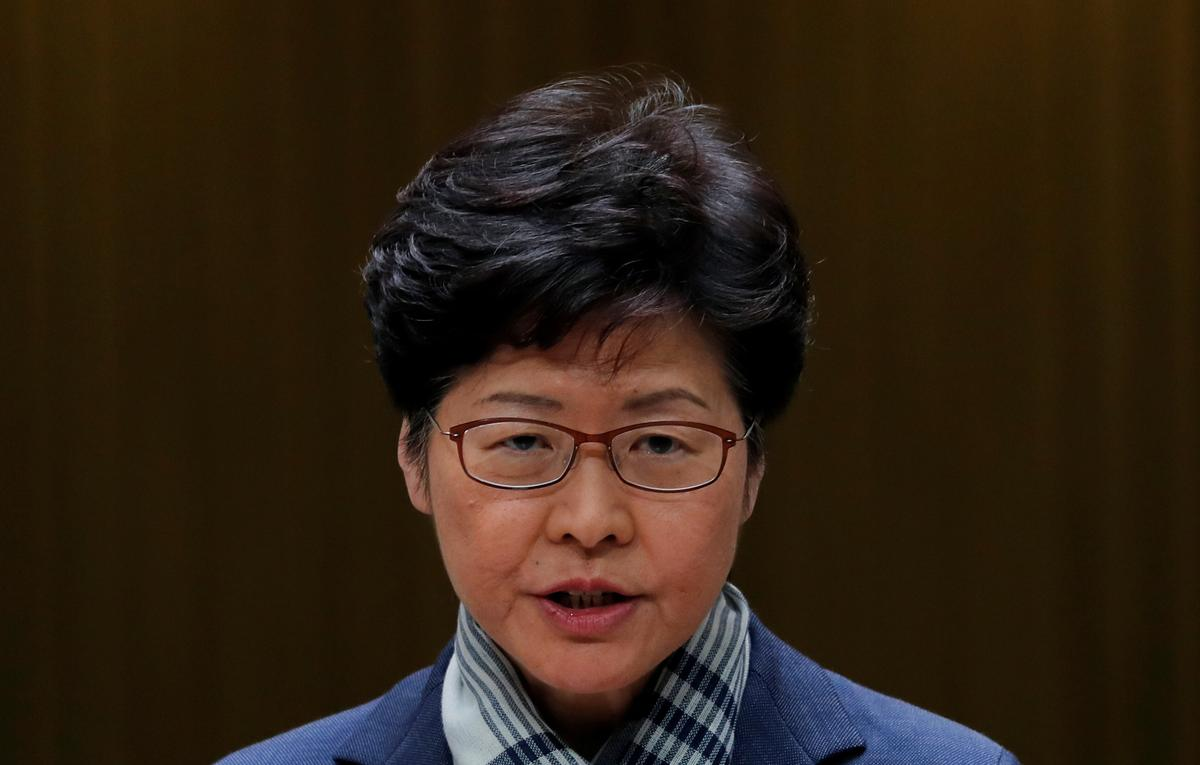 Hong Kong leader hopes for peaceful resolution of university standoff
