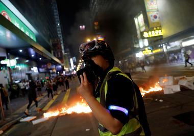 ブログ:香港の最前線に立つ牧師、デモ隊にも警官にも愛を伝える