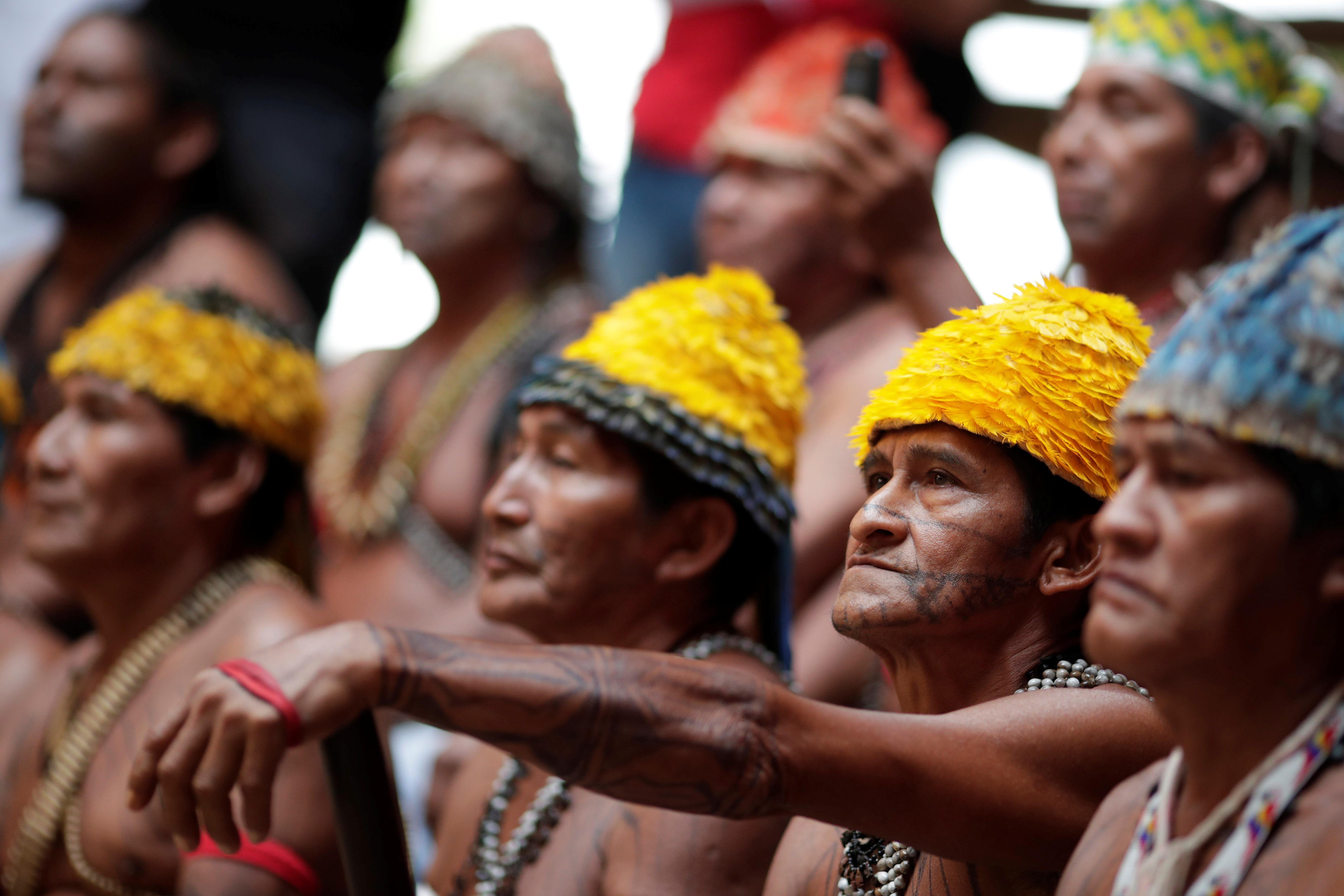 Amazon tribe demands Bolsonaro stop mining on reservations, hydro dams