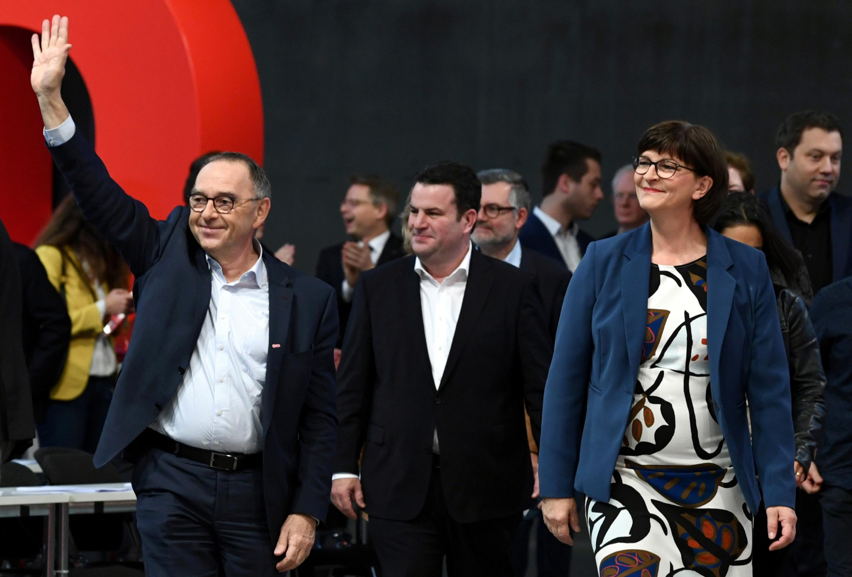 Germany's SPD slip in polls after choosing new leftist leaders