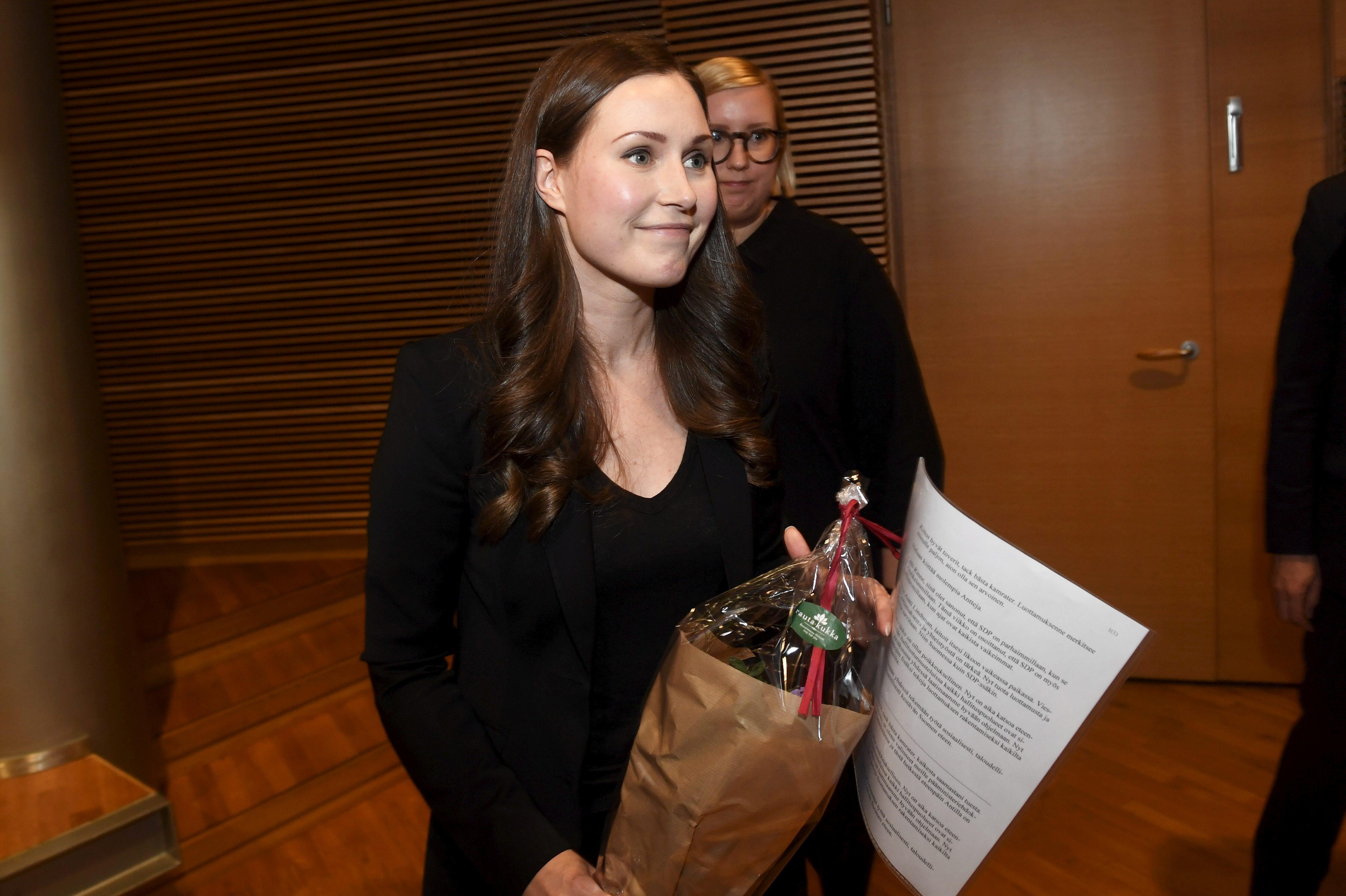 Finland's Social Democrats name Marin to be youngest ever prime...