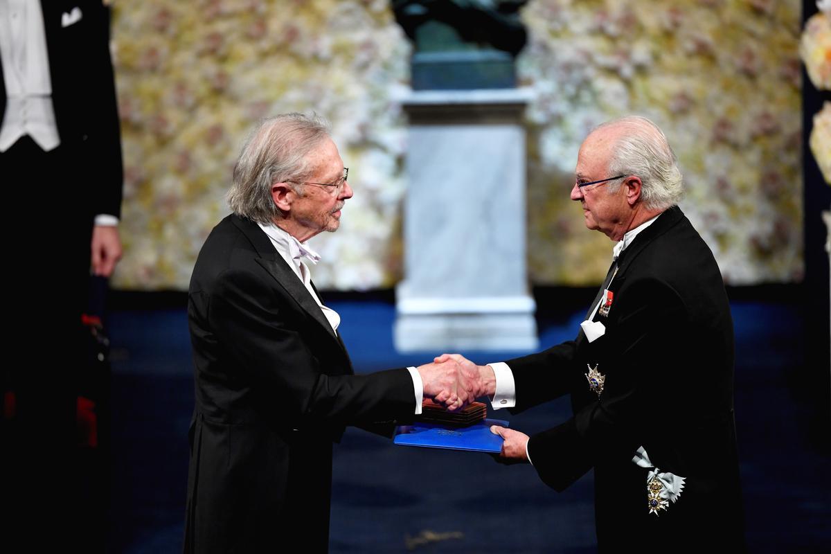 Austria's Handke receives Nobel Literature Prize amid protests, criticism