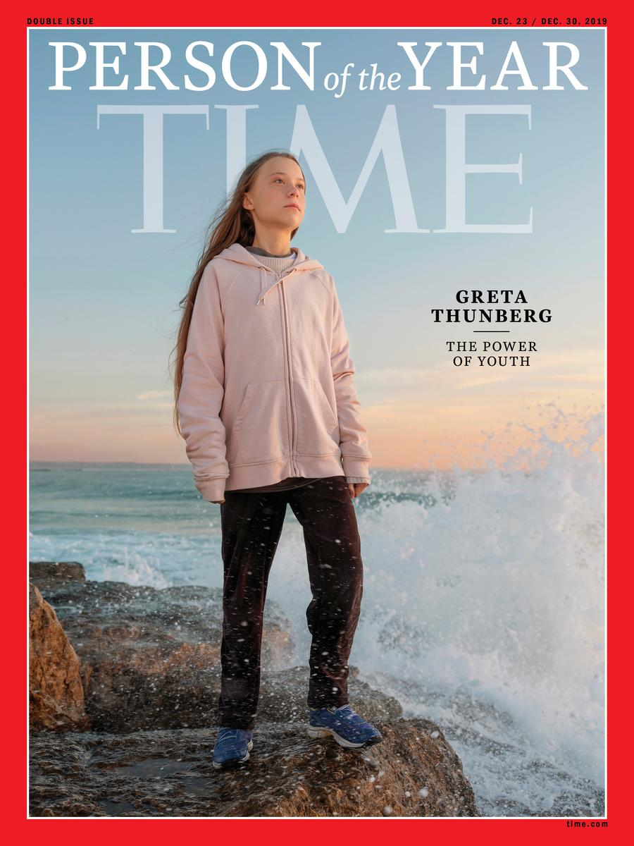 Teenage climate activist Greta Thunberg is Time`s Person...