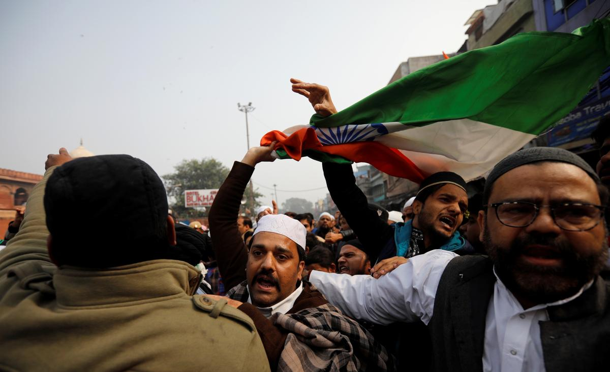 Curfew imposed in Indian city as two die in protests, internet shut in parts