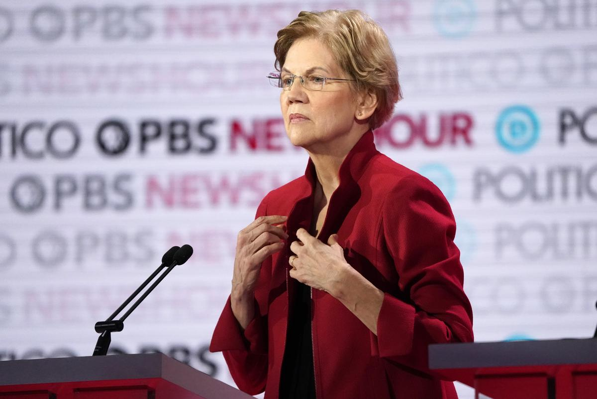 The Democrat Warren, a U.S. presidential campaign issue of Fund-raising appeals