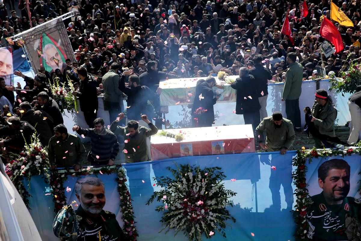 At least 56 killed in crush at general's funeral as Iran vows revenge on U.S.