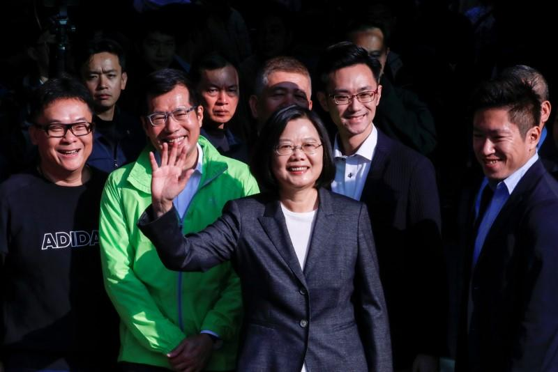 Taiwan president tells China they will not give in to threats