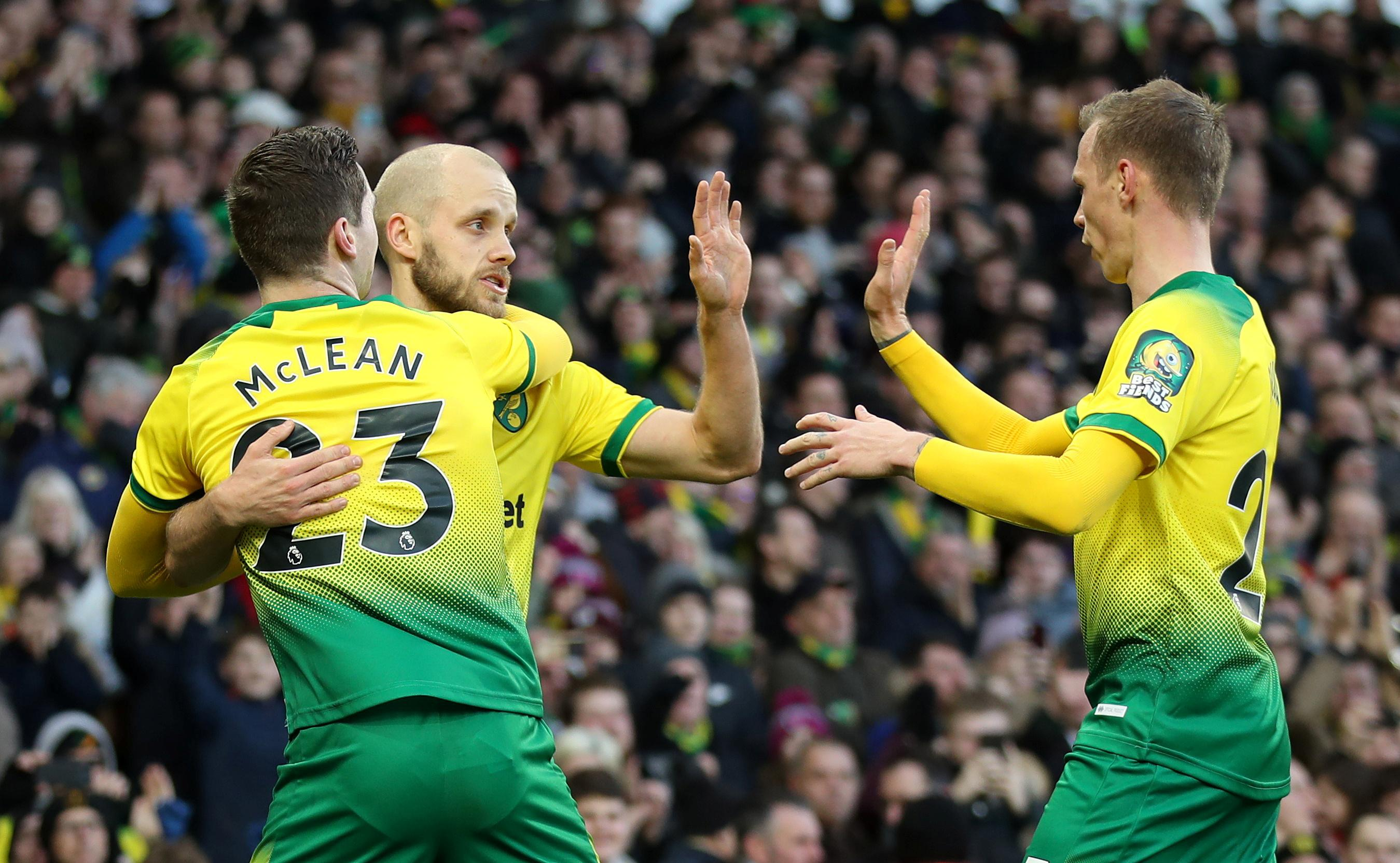Norwich log vital win over Bournemouth in battle of strugglers