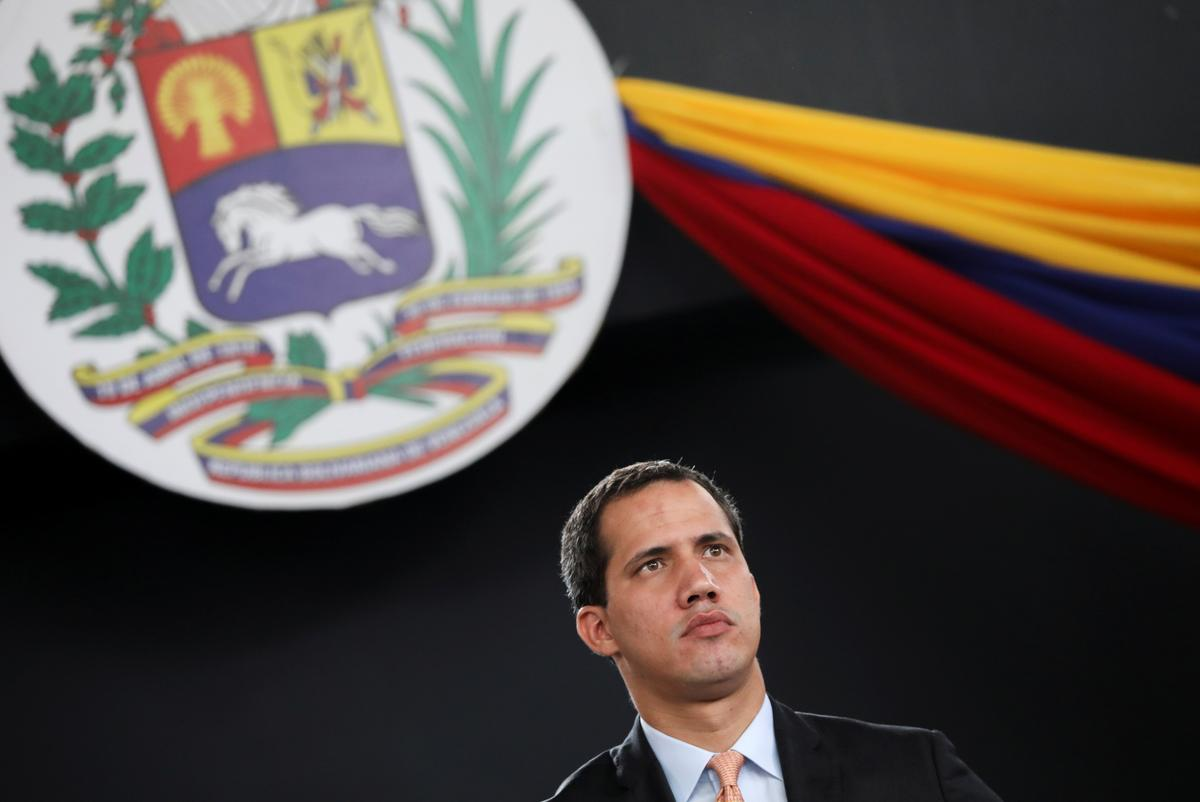 Venezuela's Guaido defies ban to arrive in Bogota, due to meet Pompeo on Monday