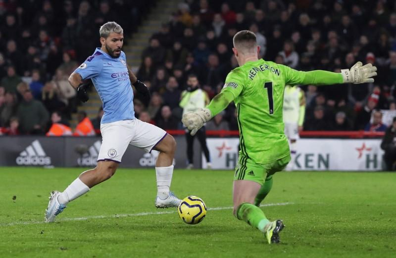 Super sub Aguero gets winner for City at Sheffield United
