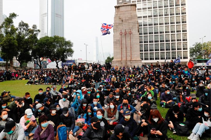 Hong Kong protesters decry police inaction six months after brutal mob attack