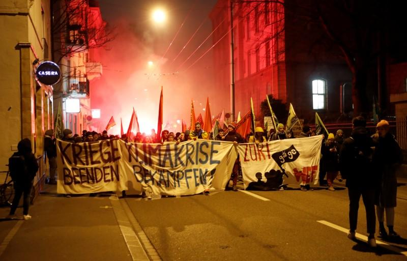 Zurich police use tear gas, water cannons on World Economic Forum...