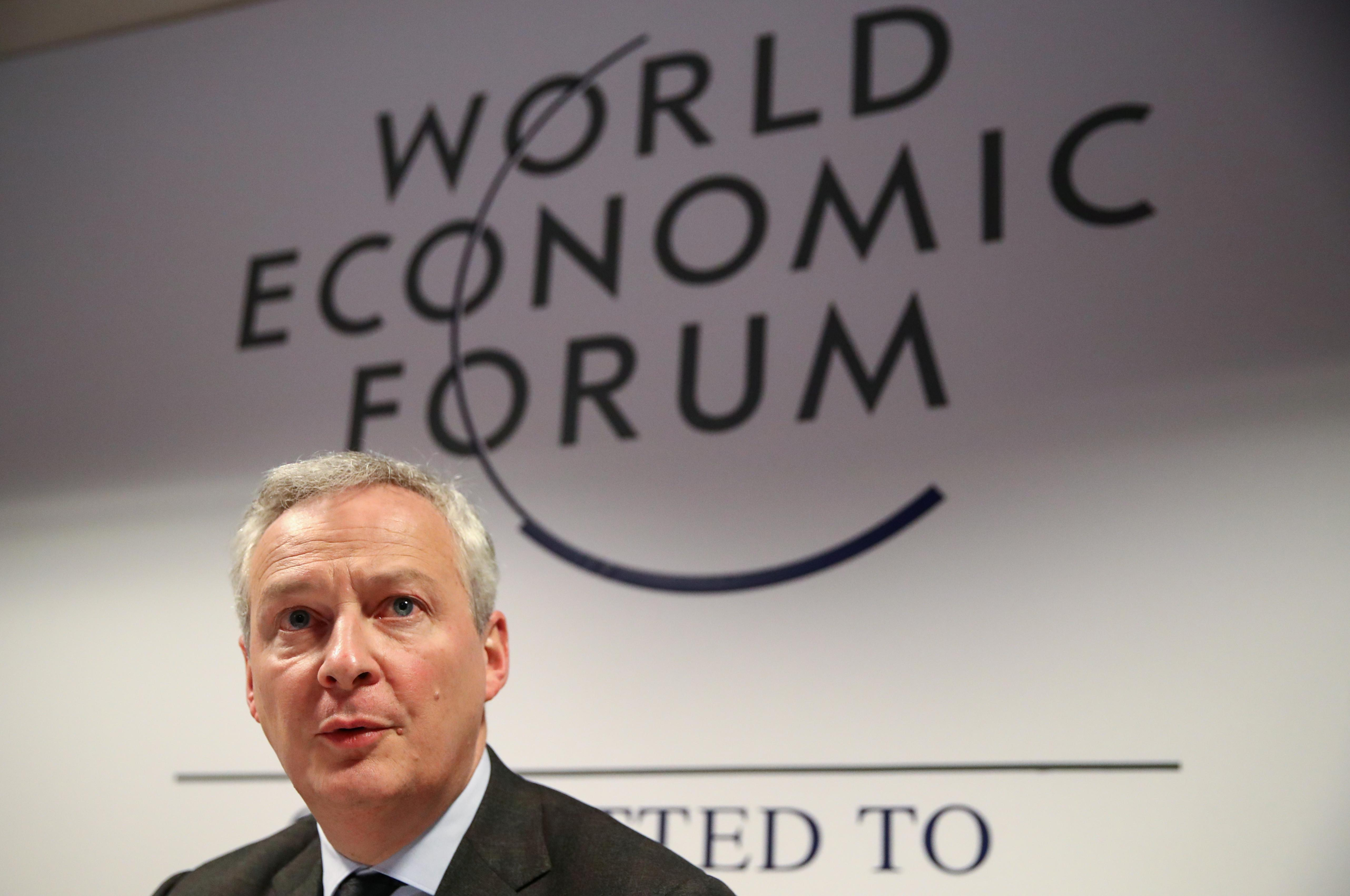 France uses Davos to pursue global 'digital tax' goal