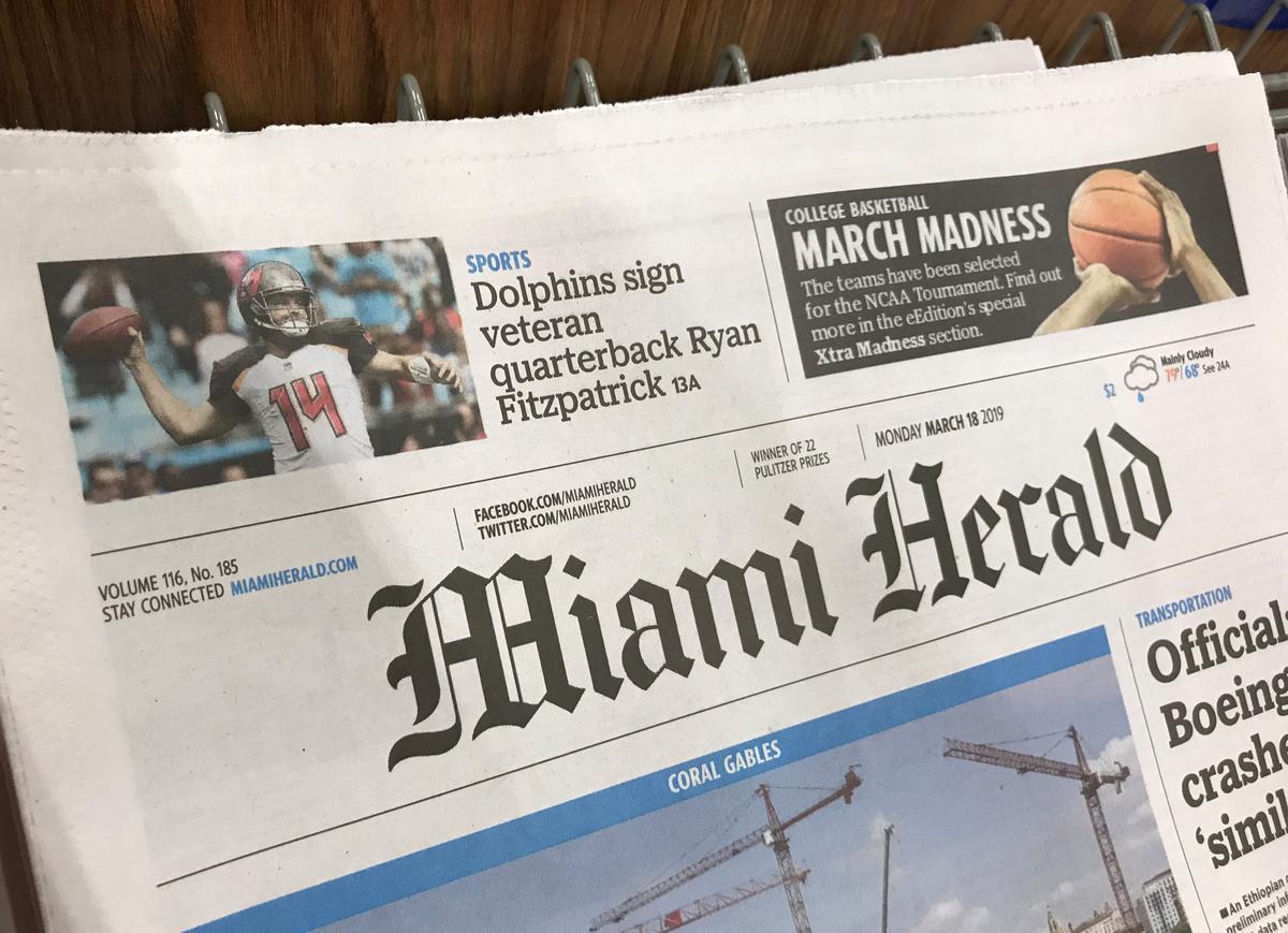 米新聞大手マクラッチー破産法申請、マイアミ・ヘラルドなど30紙展開