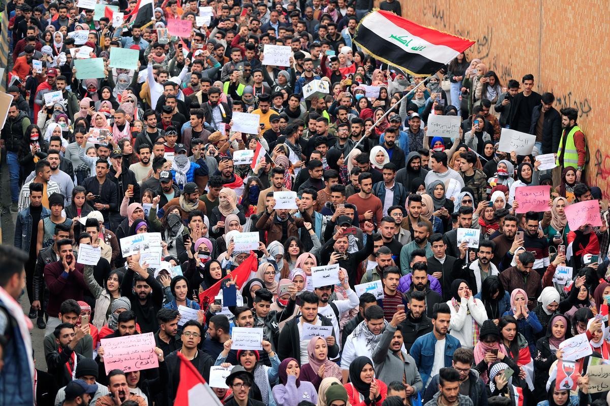 U.N. envoy condemns use of birdshot against Iraqi protesters