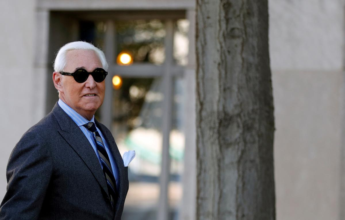 Trump adviser Stone to be sentenced in case that has roiled Washington