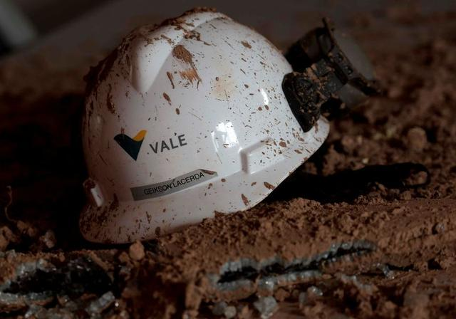 FILE PHOTO: A helmet with a logo of Vale SA is seen in a collapsed tailings dam owned by the company, in Brumadinho, Brazil February 13, 2019. REUTERS/Washington Alves