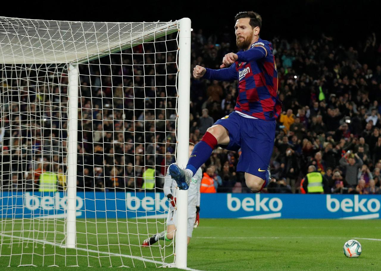 Messi and VAR hand Barca victory over Sociedad - Reuters