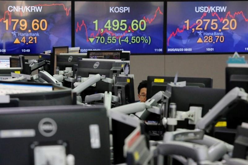 Stocks stagger as more nations self-isolate against virus
