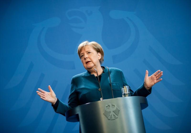 'Optimistic' Merkel not infected with coronavirus: chief of staff