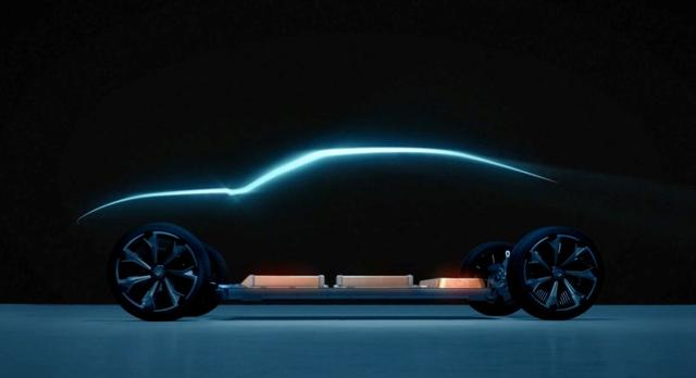 An undated handout photo from General Motors shows one of its six new different types of electric vehicles that can accommodate the automaker's flexible battery pack.   General Motors/Handout via REUTERS