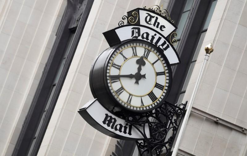 Owner of Britain's Daily Mail says consumer media revenue down a third in April