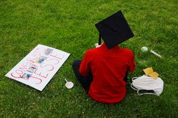 Students graduate in a pandemic
