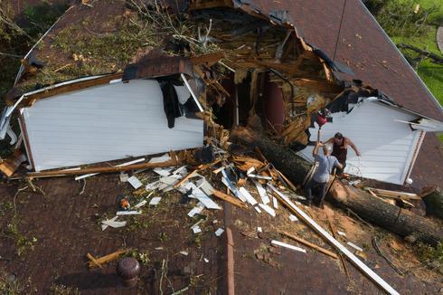 Louisiana residents survey Hurricane Laura damage