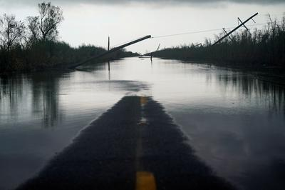 Hurricane Laura's trail of devastation in Louisiana