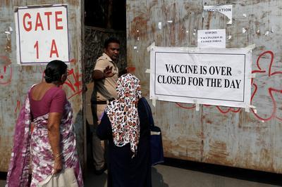India's vaccinations plummet as coronavirus infections soar