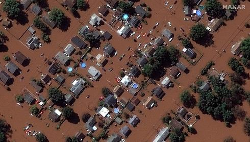 Hurricane Ida's long trail of devastation from above