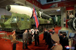 North Korea shows off new weapons at military exhibition